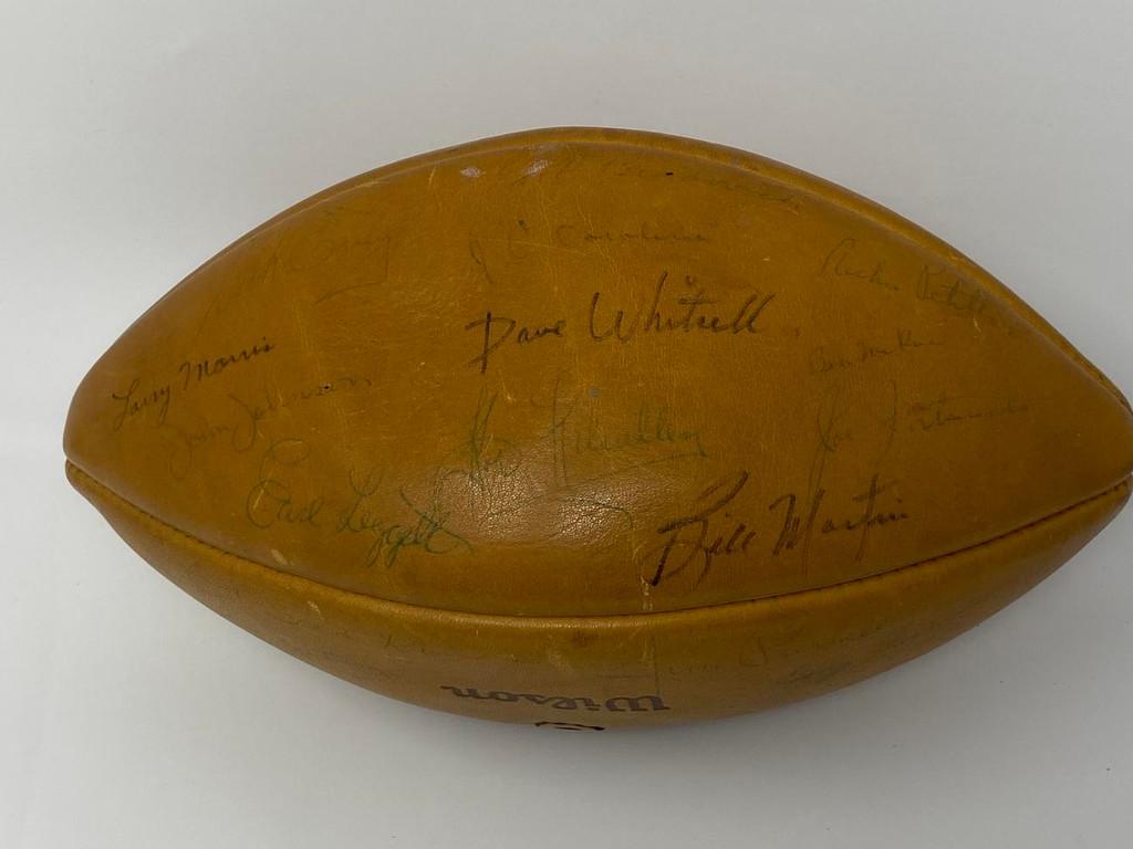 1963 Chicago Bears World Champions Signed Football PSA/DNA COA 41 Signatures