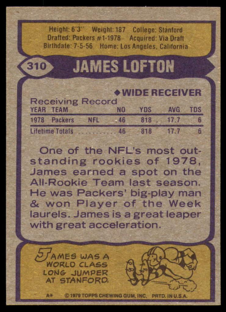 1979 Topps #310 James Lofton Near Mint RC Rookie ID: 187947