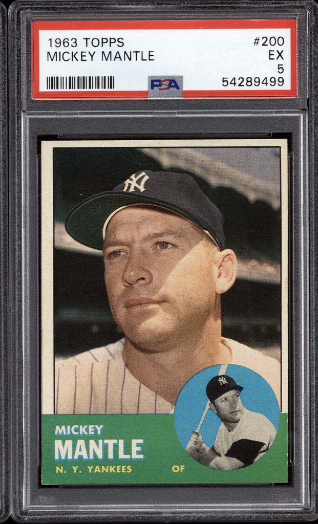 1963 Topps #200 Mickey Mantle PSA 5 EX