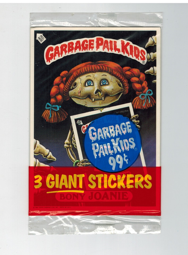 1986 Topps Garbage Pail Kids  Giant Stickers  Unopened Wax Pack  #*