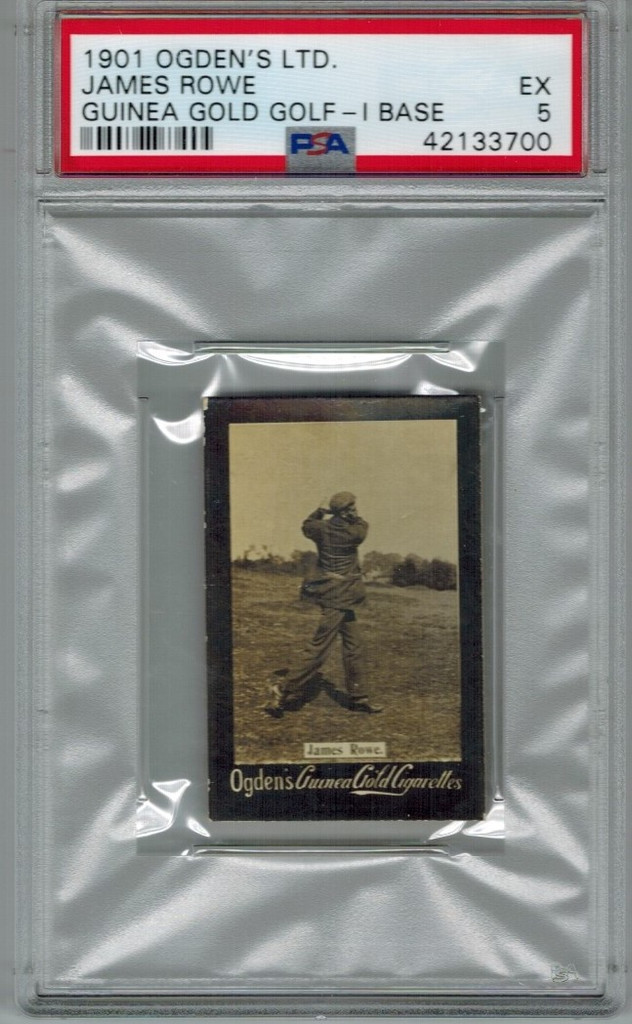 1901 Ogden Cigarette Card Guinea Gold Golf - I Base  James Rowe  PSA 5 EX   #*