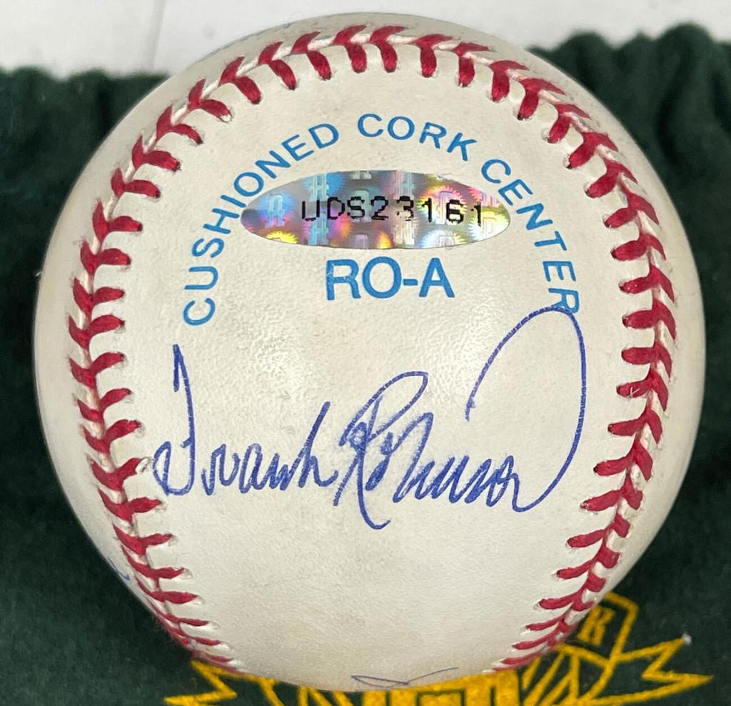Triple Crown Winners Signed AL Baseball Mickey Mantle Ted Williams Yaz Robinson UDA