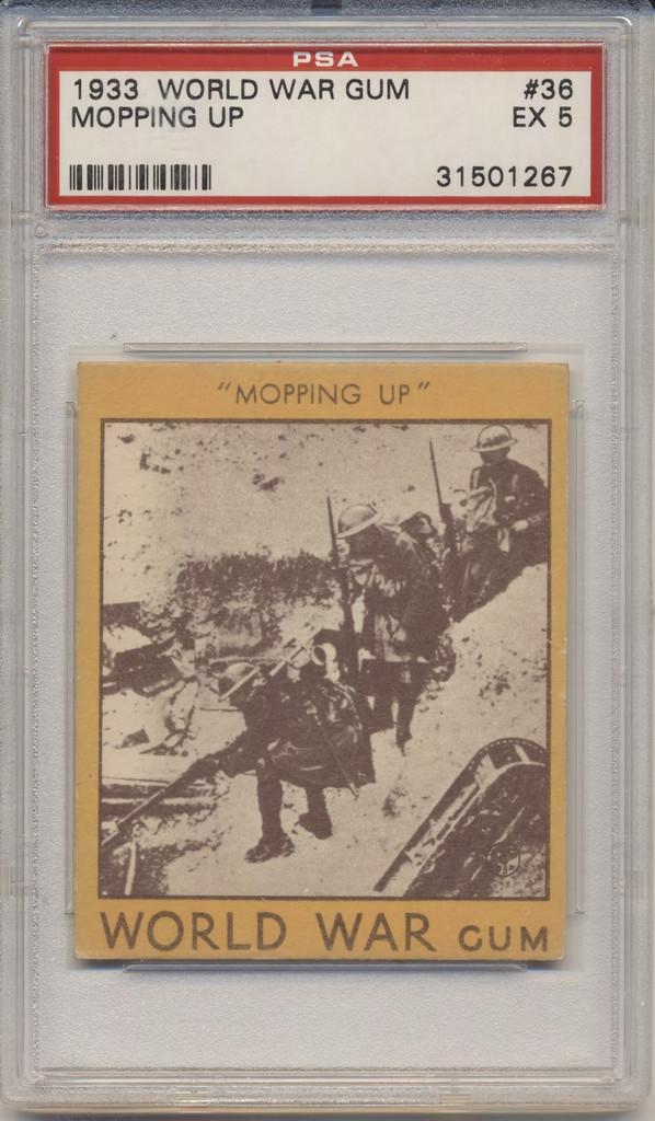 1933 World War Gum R174 #36 Mopping Up PSA 5 EX  #*
