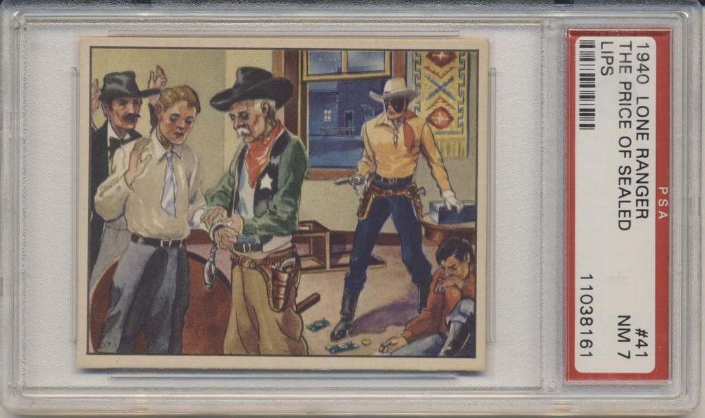 1940 Lone Ranger #41 The Price Of Sealed Lips PSA 7 NM  High Number TOUGH!!  #*