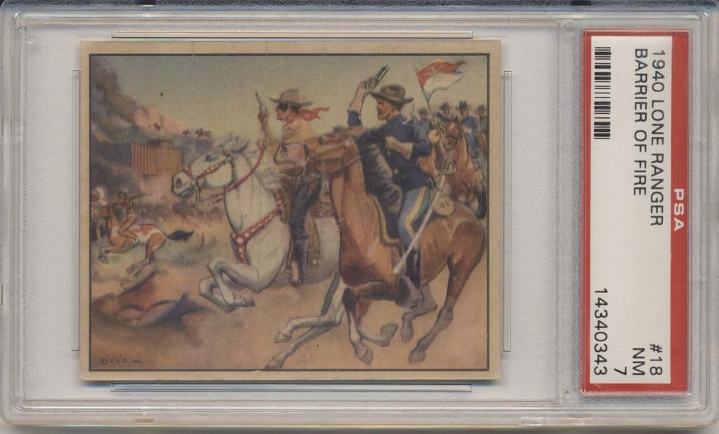 1940 Lone Ranger #18 Barrier Of Fire PSA 7 NM  #*