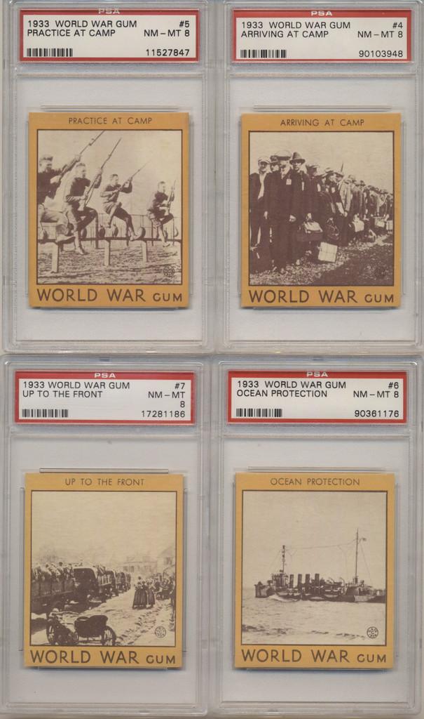 1933 Goudey R174 World War Gum Set 96 PSA Graded GPA 7.02 NM  #*