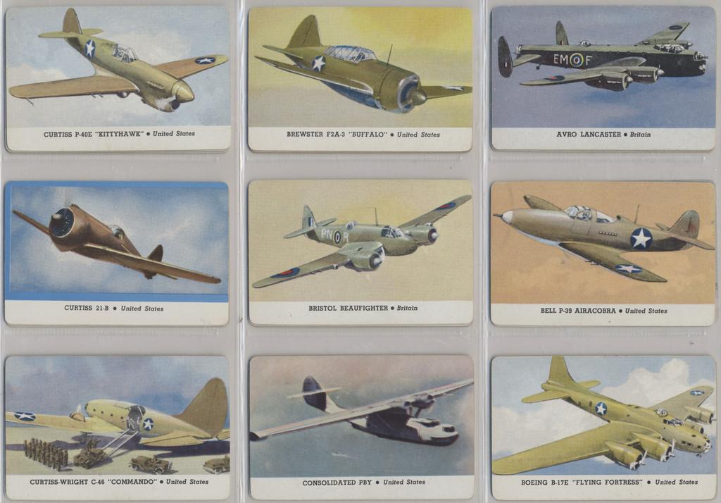1940's Leaf Brand Inc R112-5 Card-O Aeroplane Series D Text Back Set 27  #(