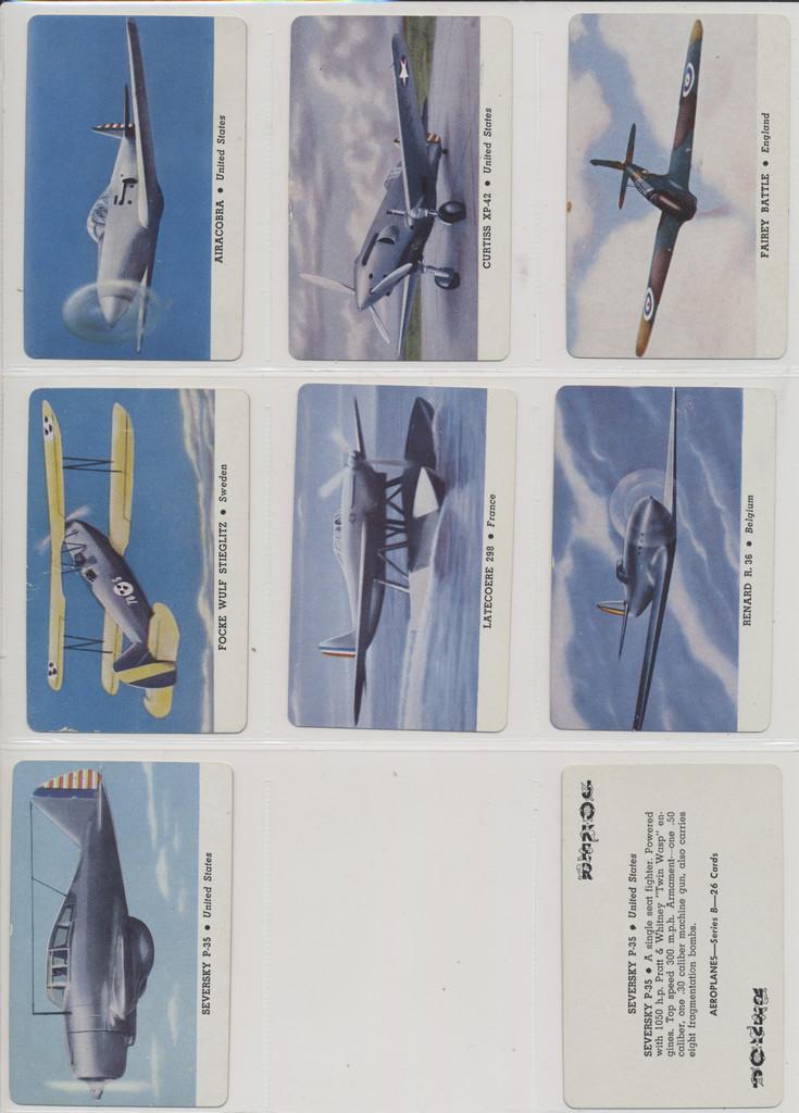 "1940's Leaf Brand Inc R112-3c Joker Back Card-O Aeroplanes Series C Lot 7 + 1 Dup """" Will sell singles  #*"