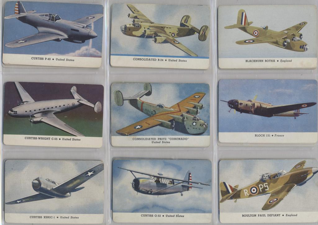 1940's Leaf Brand Inc R112-4a Card-O Aeroplane Series C 26/28 Lower Grade Will Sale Singles  #*