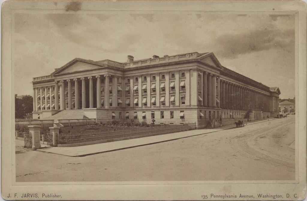 1890's Jarvis Publishing Washington DC Cabinet Card U. S. Treasury Building  #*