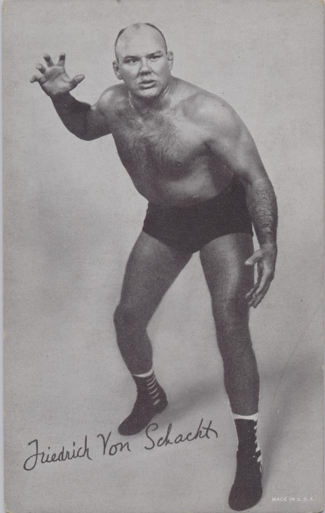 1947/66 Wrestling Exhibits Fredich Von Schacht  #*