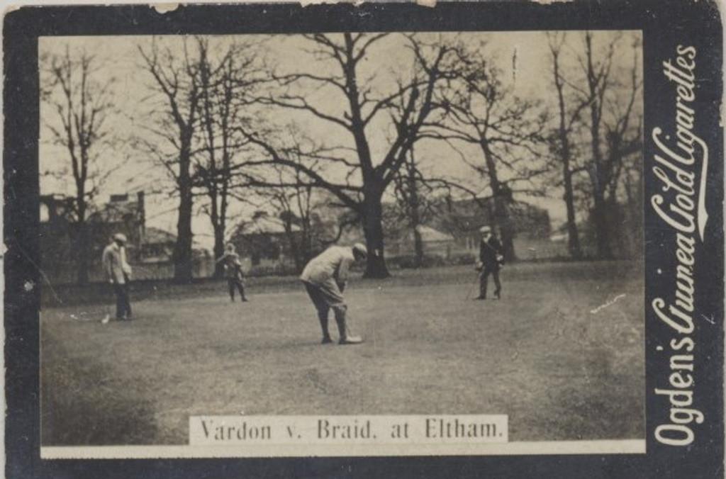 1901 Ogden Cigarette Card Guinea Gold Golf Vardon v Braid At Eltham  #*