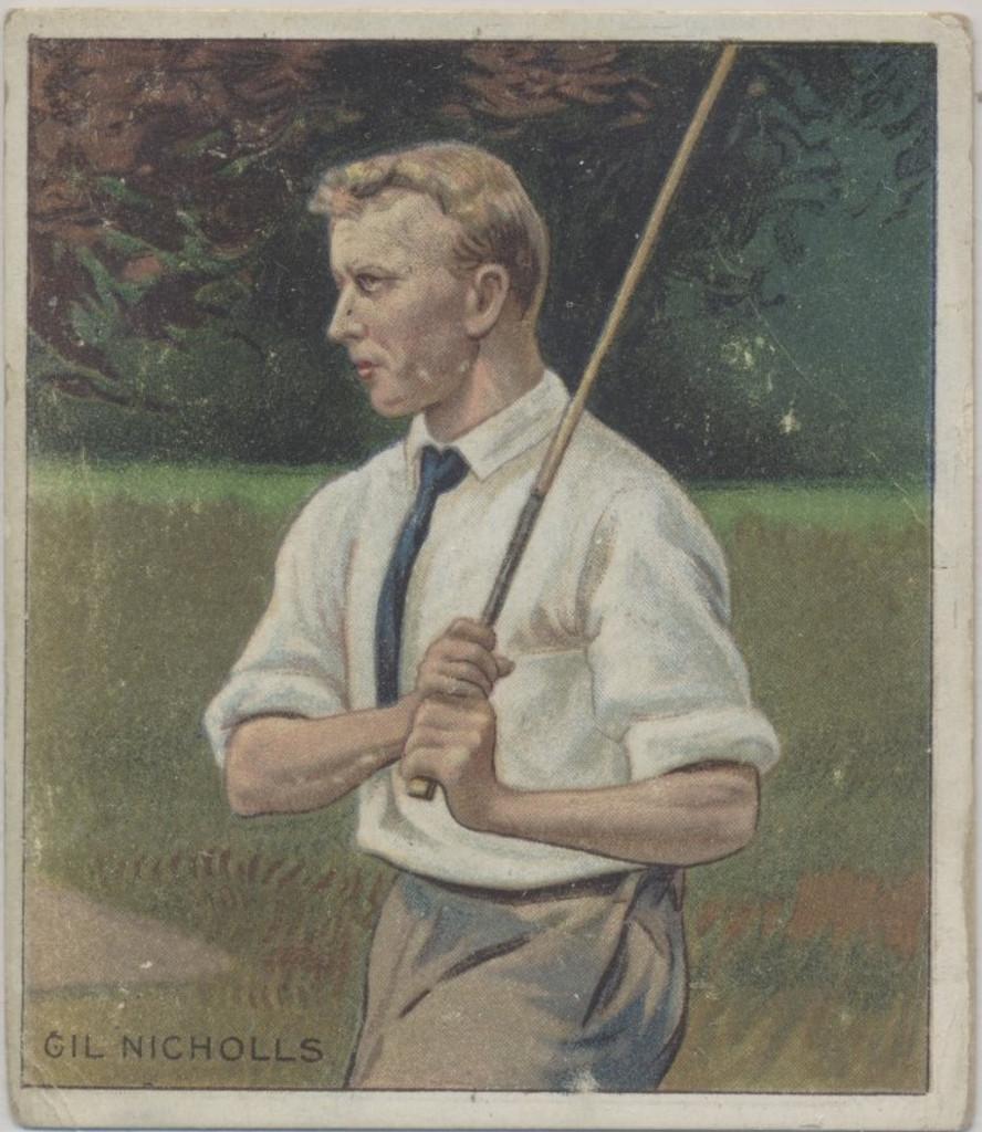 1910 T218 Champions Gilbert Nicholls Golfer  #*