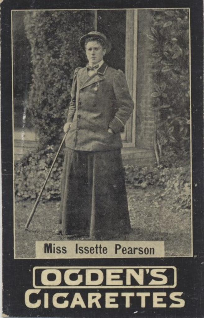 1902 Ogden's Cigarettes Golf Miss I. Pearson Lady Golfer  #*