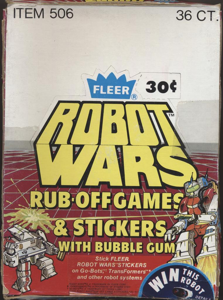1985 Fleer Robot Wars Rub-Off Games & Stickers Wax Box 36 wax packs  #*