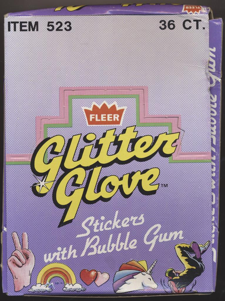1984 Fleer Glitter Glove Wax Box 36 Wax Packs  #*