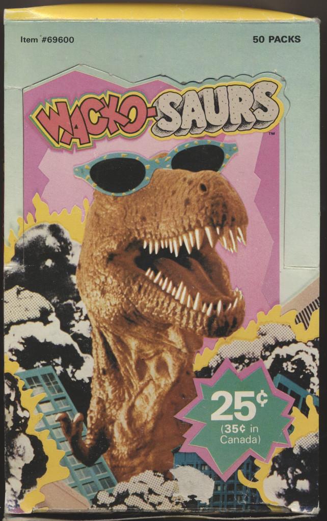 VINTAGE 1987 WACKO-SAURS STICKERS 1ST SERIES Wax Box 50 Packs  #*
