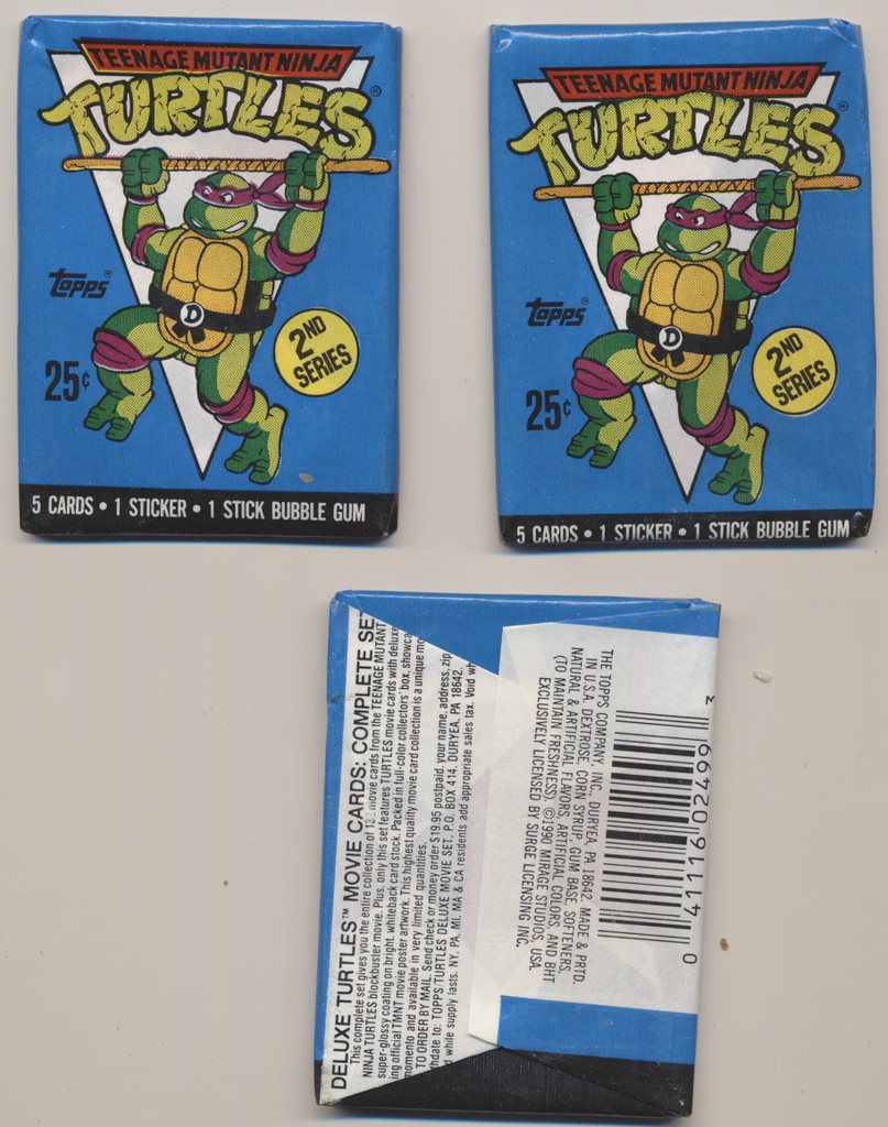 1990 Topps Teenage Mutant Ninja Turtles Wax Box 48 Wax Packs  #*