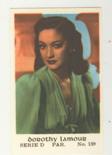 1952 Hollywood Stars Booklet Series D #139 Dorothy Lamour
