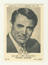 1954 A & BC Chewing Gum Film & TV Stars 2nd Series #90 Cary Grant