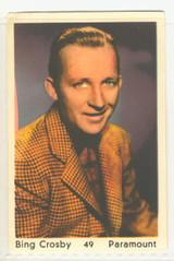 1954 International Film Stars Dutch Songs Maple Leaf Holland #49 Bing Crosby  #*