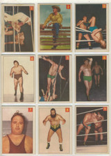 """1954-55 Parthurst Wrestling Set 75 With 6 Lucky Premium Cards Total 81 Cards  """""""""""