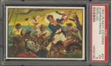 "1954 U.S. NAVAL VICTORIES #37 ALGERIAN PIRATES REPELLED ... PSA 5 EX  """""