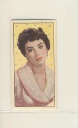 1955 Barbaras Tea Cinema & Television Stars #7 Elizabeth Taylor Ex-Mt
