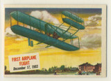 1954 Topps Scoops #15  First Airplane Flight Dec. 17, 1903  **