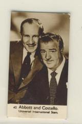1955 Watford Biscuits Cinema Stars #43 Abbott & Costello Ex