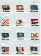 """1959 PF19 CHAIN TAB """"STATES FLAGS"""" CEREAL PREMIUMS SET (49)"""