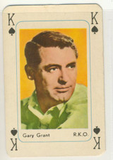 1959 R778-1 Movie Star Playing Card Gary Grant Ex+
