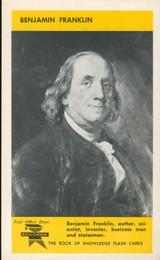 1960 ED-U-CARD Benjamin Franklin  #*