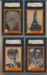 "1961 Nu-Cards Horror Monster Series Orange Set 80 SGC Graded GPA 77.38  """""