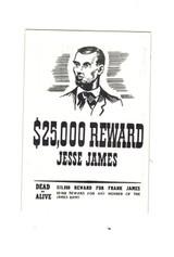 "1961 Nu-Card #22  Jesse James  Wanter Poster  """""