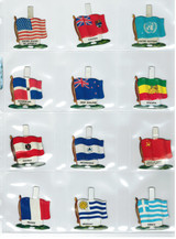 """1960's Chain Tab """"National Flags"""" Cereal Premiums Lot 33 Different  """""""""""