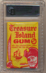1960 Treasure Island 5 Cents Wax Pack GAI 10 PERFECT  #*