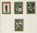 1960s Charlie Chaplin Stamps Lot of 4 Different