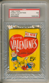 1960 Topps Funny Valentines 5 Cent Wax Pack PSA 7 NM   #*