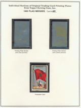 "1963 TOPPS FLAG MIDGEES CARD #60  Morocco  """""
