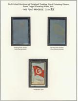 "1963 TOPPS FLAG MIDGEES CARD #90  Tunisia  """""