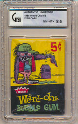 1965 Fleer Weird-Ohs 5 Cents Wax Pack GAI 8.5 NM-MT   #*