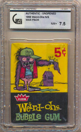 1965 Fleer Weird-Ohs 5 Cents Wax Pack GAI 7.5 NM+   #*