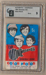 1967 Rayburn The Monkees 2nd Series Wax Pack GAI 9 MINT  #*