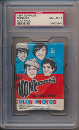 1967 Rayburn The Monkees 2nd Series Wax Pack PSA 8 NM-MT   #*