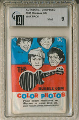 1967 Rayburn The Monkees 2nd Series Wax Pack GAI 9 MINT  #**