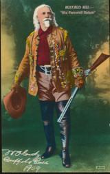 1967 Buffalo Bill Post Card His Farewell Salute
