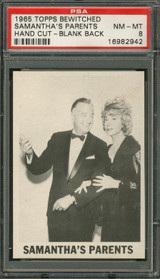 1965 TOPPS BEWITCHED SAMANTHA'S PARENTS PSA 8 NM-MT (TEST) (HAND CUT)   #*