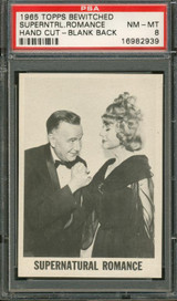 """1965 TOPPS BEWITCHED SUPERANTURAL ROMANCE   PSA 8 NM-MT (TEST) (HAND CUT)   """""""""""