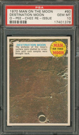 "1970 OPC MAN ON THE MOON #60 DESTINATION MOON  PSA 10 GEM MINT  """""